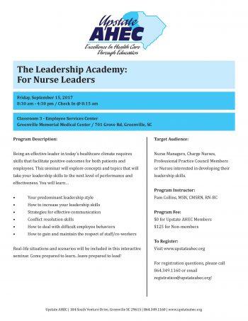 The Leadership Academy:  For Nurse Leader September 15