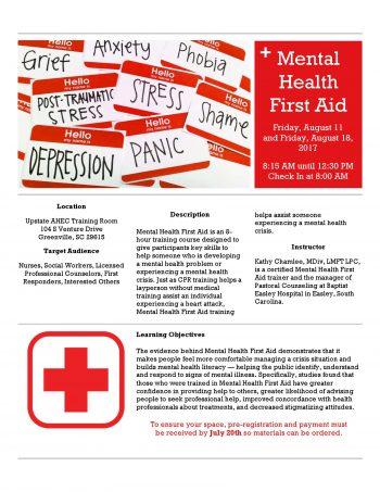 Mental Health First Aid Aug 11