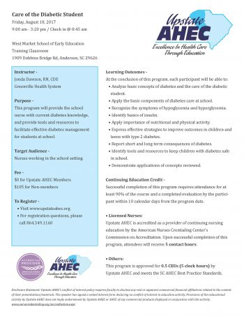 Care Of The Diabetic Student Aug 18