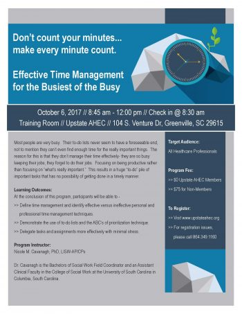 Effective Time Management For The Busiest Of The Busy Oct 6