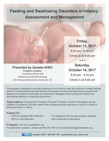 Feeding And Swallowing Disorders In Infancy: Assessment And Management 10/13-14