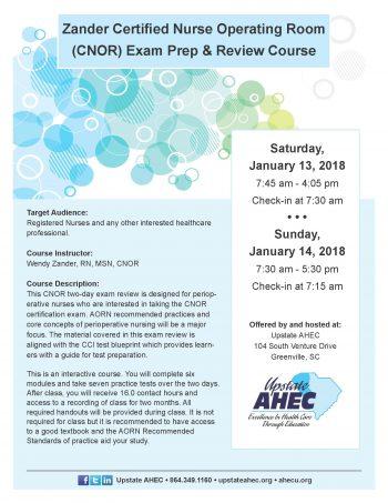 Zander Certified Nurse Operating Room (CNOR) Exam Prep & Review Course – Jan  13-14