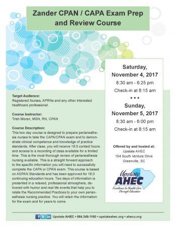 Zander CPAN / CAPA Exam Prep And Review Course Nov 4-5