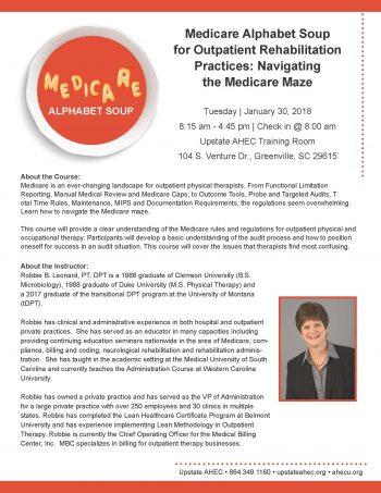 Medicare Alphabet Soup For Outpatient Rehabilitation Practices: Navigating   The Medicare Maze Jan 30