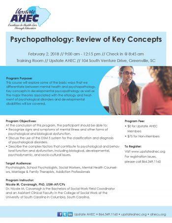 Psychopathology: Review Of Key Concepts Feb 2